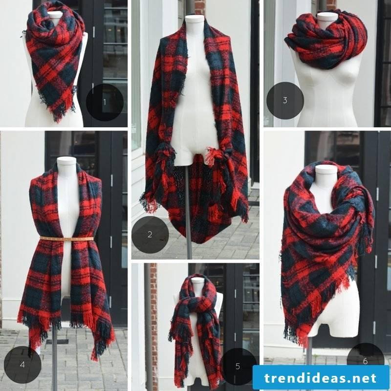 Loop scarf tie styles