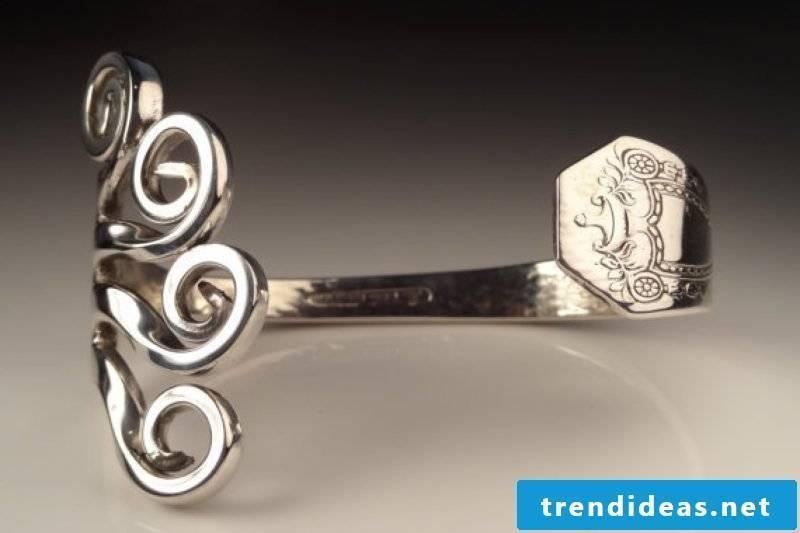 Jewelery made of silver cutlery