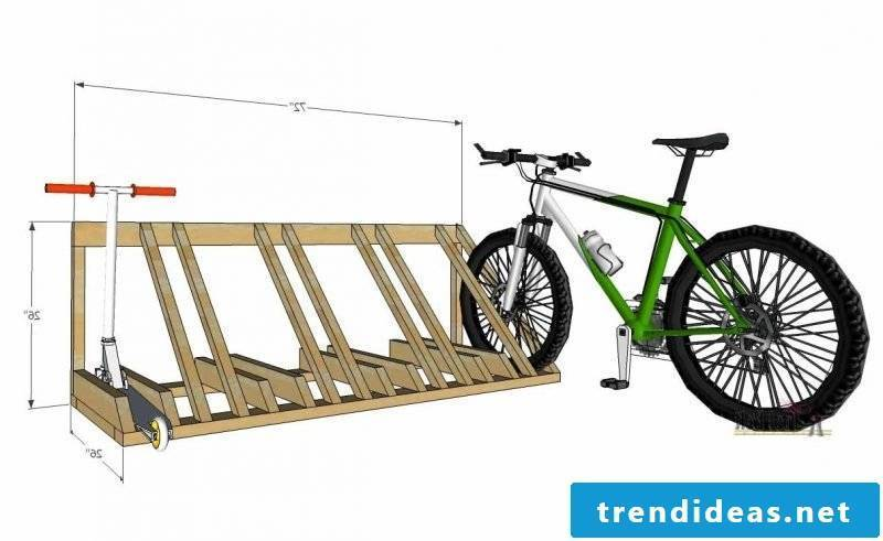 Bicycle mount for wall project from pallets
