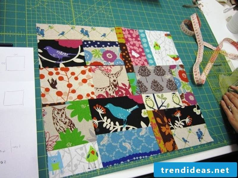Patchwork blanket sew DIY