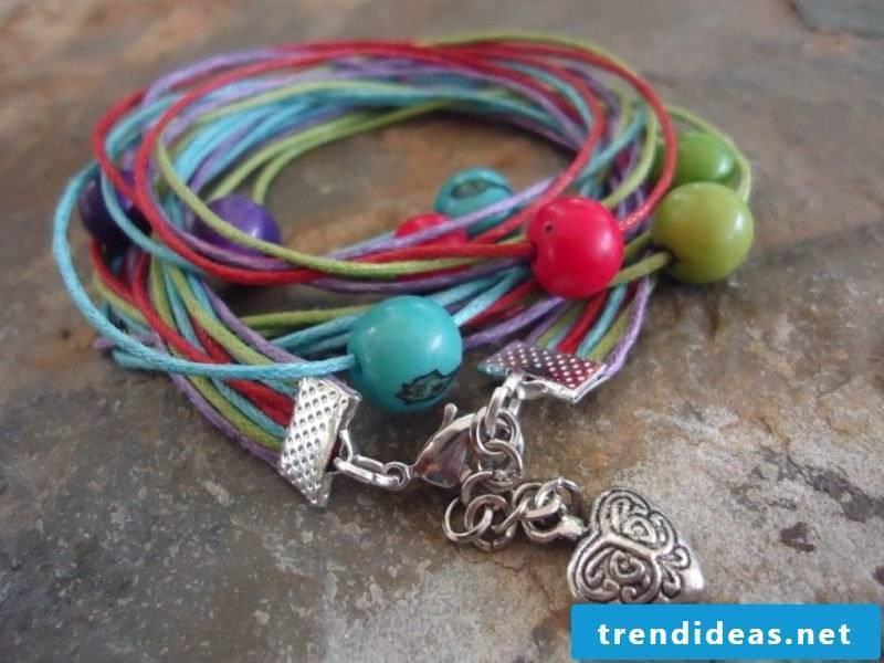 DIY bracelet many