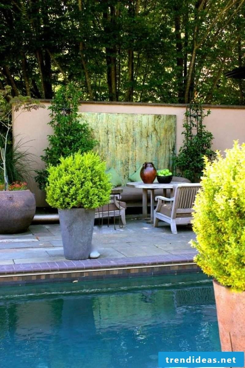 concrete planter pool deck screen