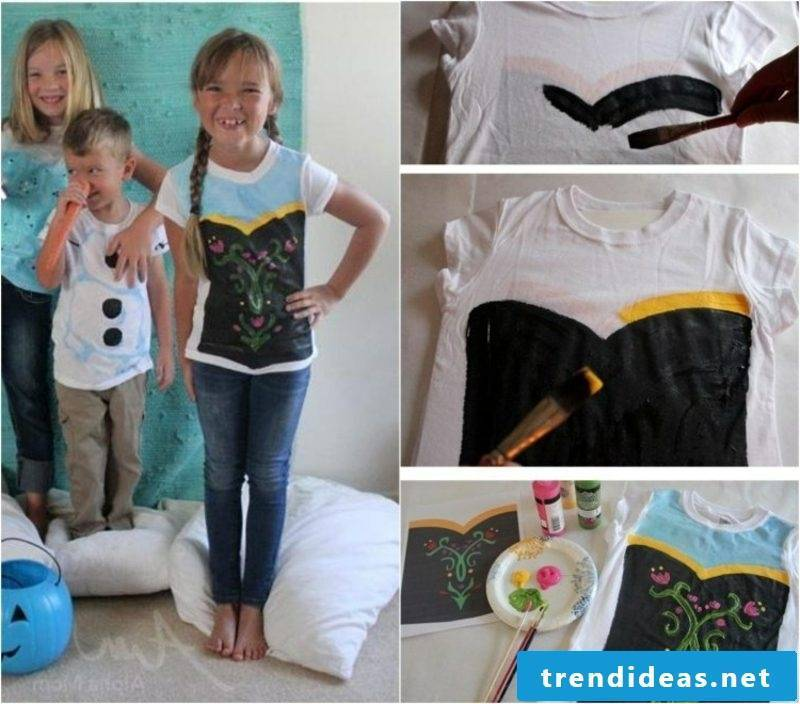 T-shirts self-print kids creative ideas