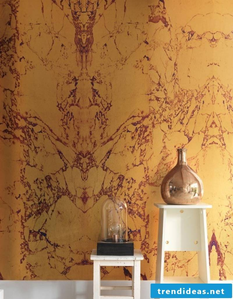 original stone wallpaper in yellow