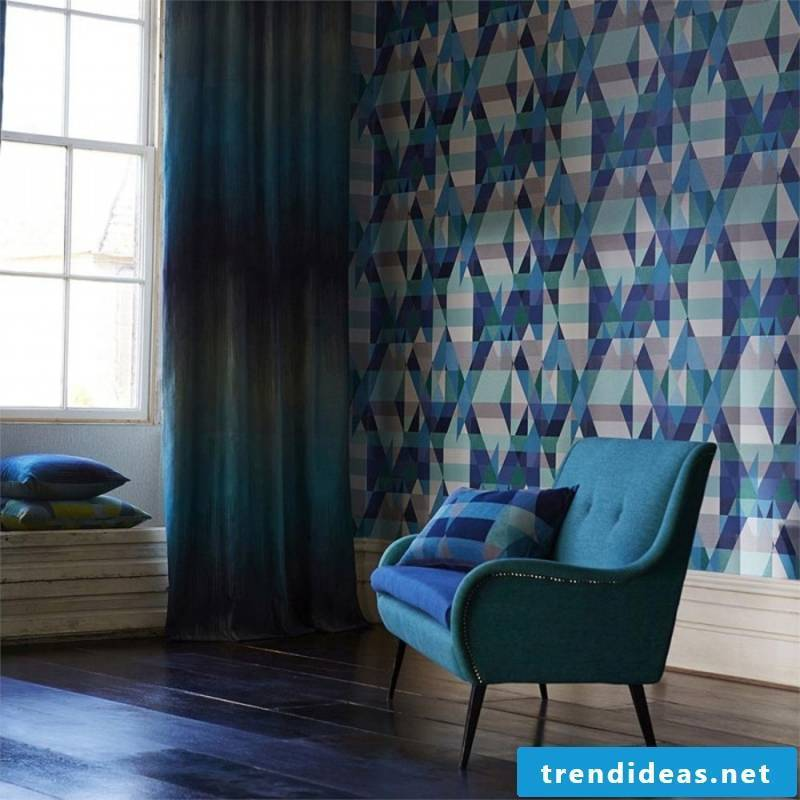 graphic wallpaper with geometric figures