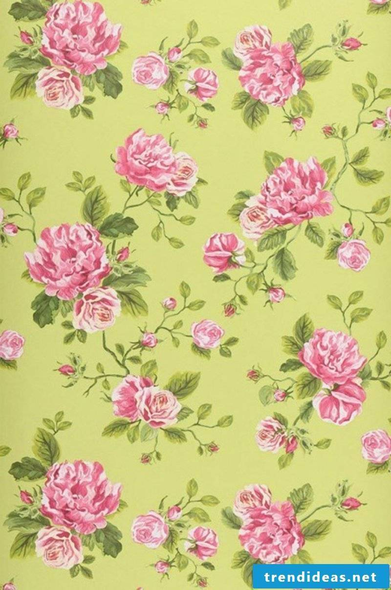 fancy wallpaper with roza flowers