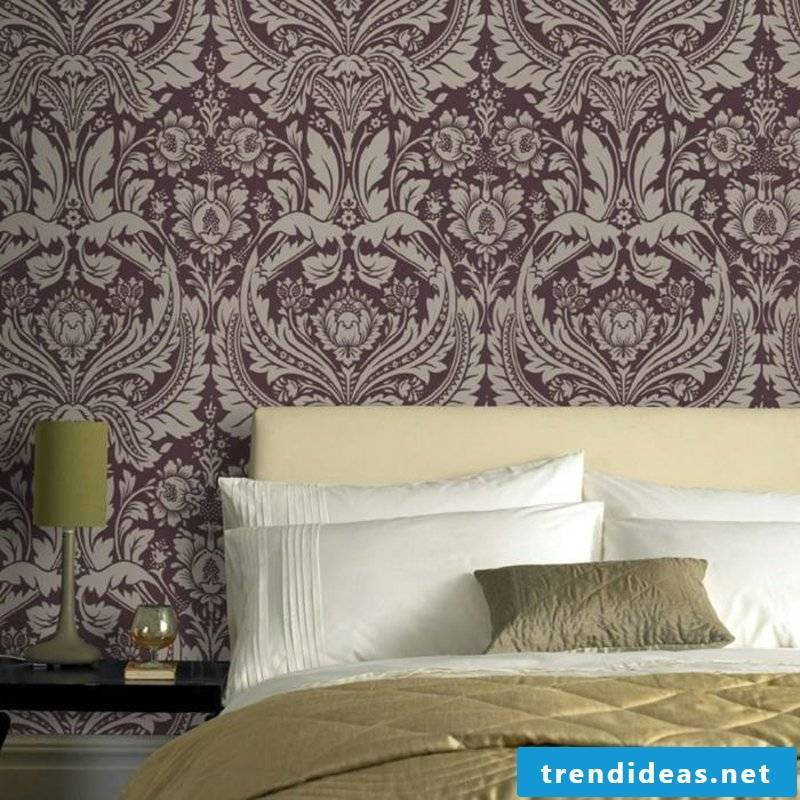 purple wallpaper in Baroque style