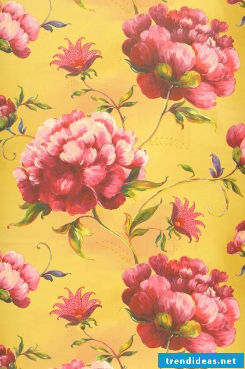 fancy wallpaper yellow wallpaper with flowers