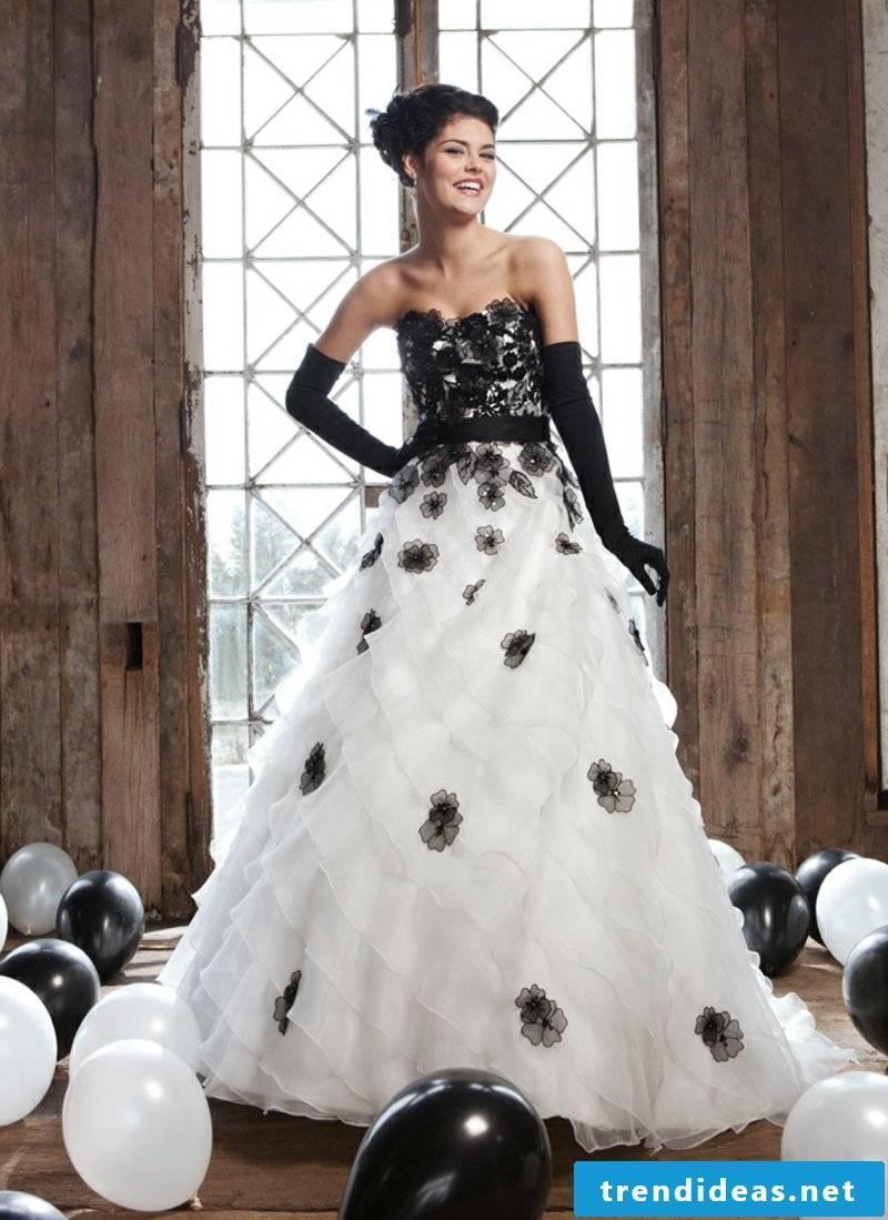 original wedding dress in white and black