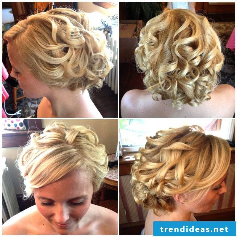 Curls updos hairstyle