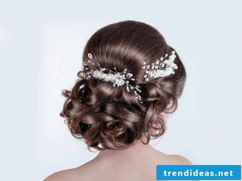 Curls updos wedding hairstyle