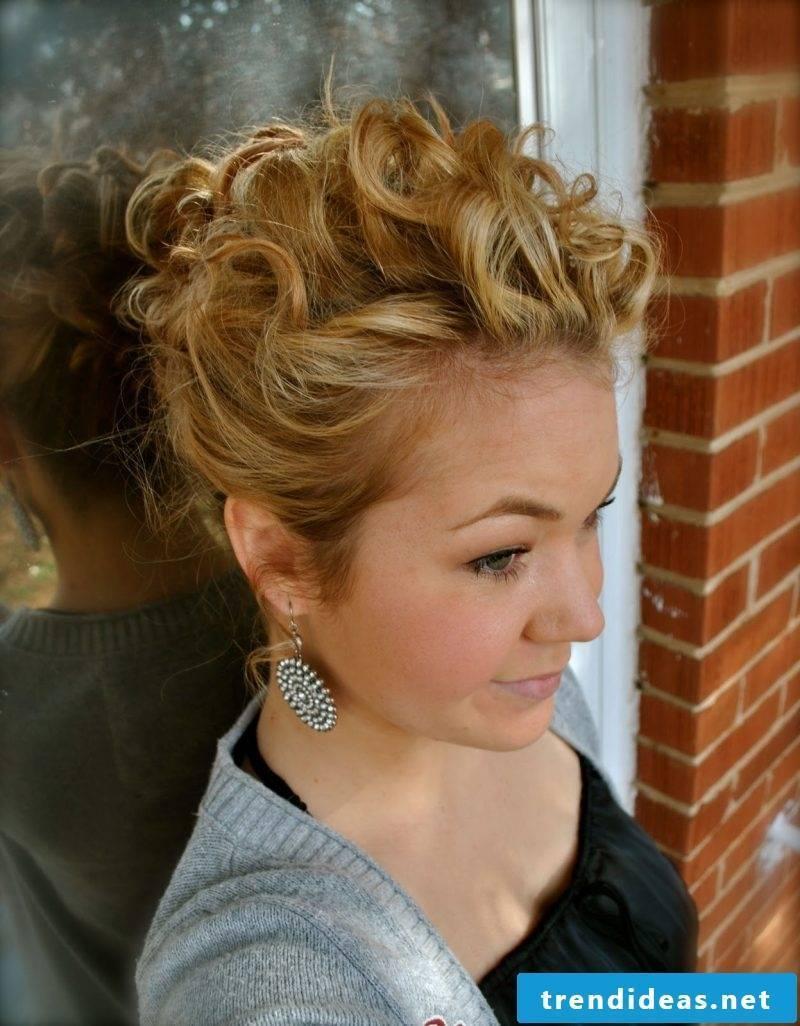 Curls updos idea