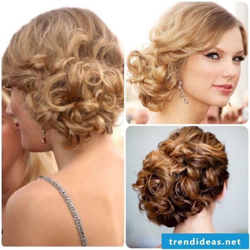 Curls updos