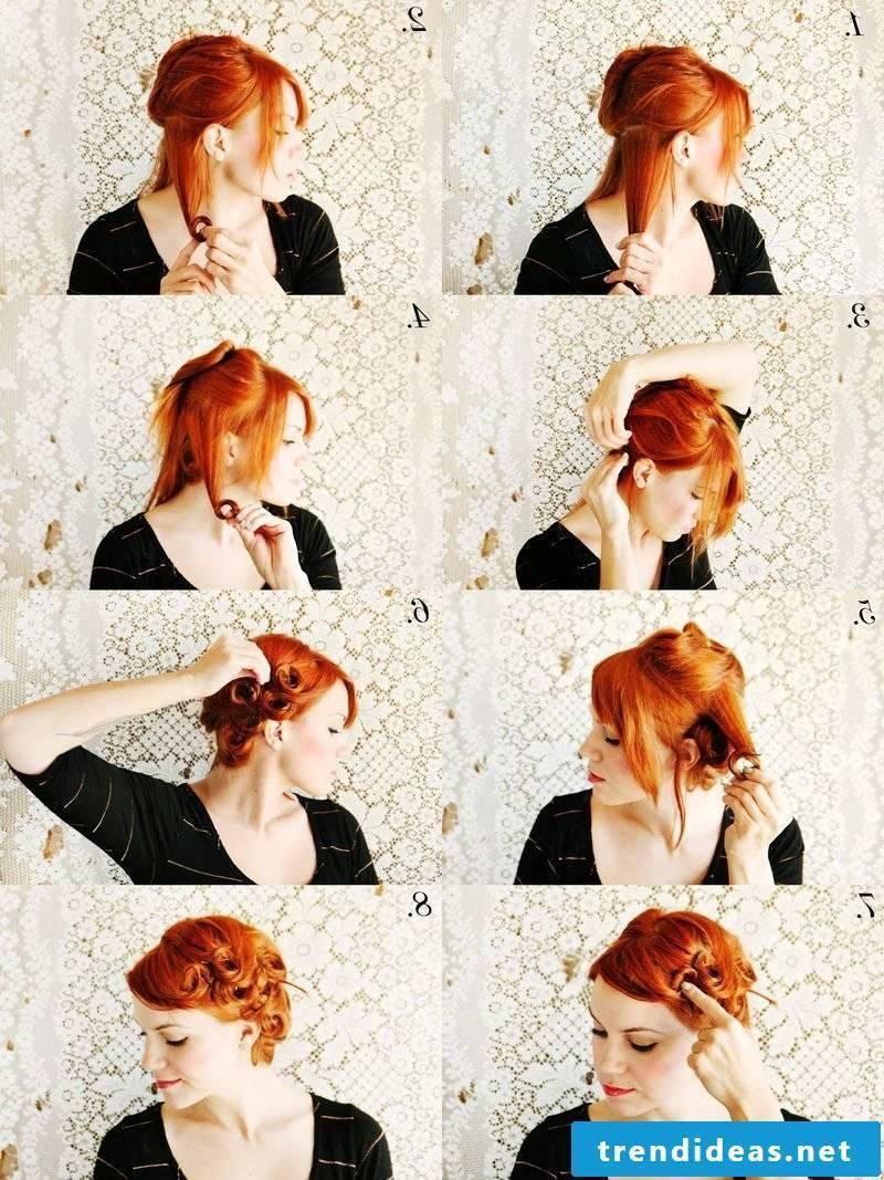 Curls updos tutorial