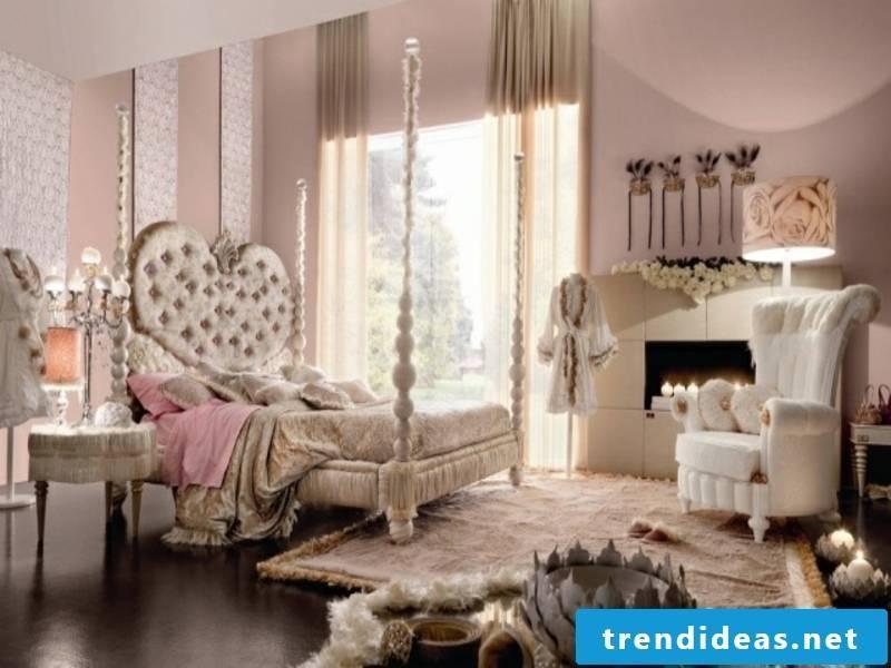 romantic luxury bedroom in pink