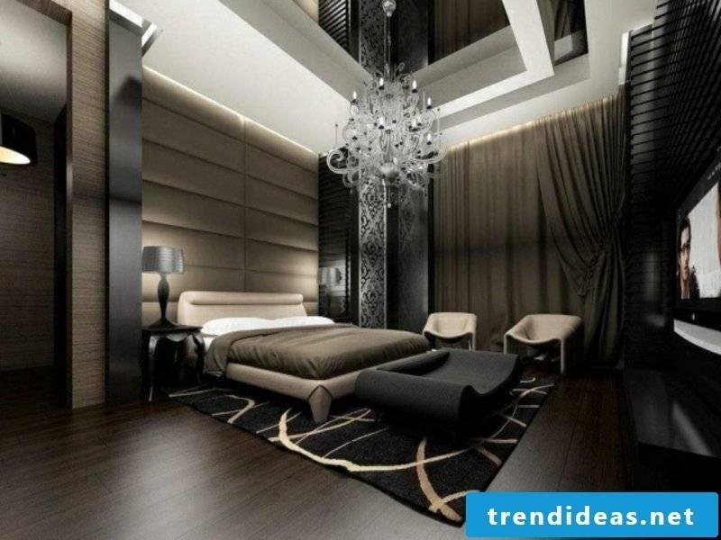 Modern dark colors in the luxury bedroom