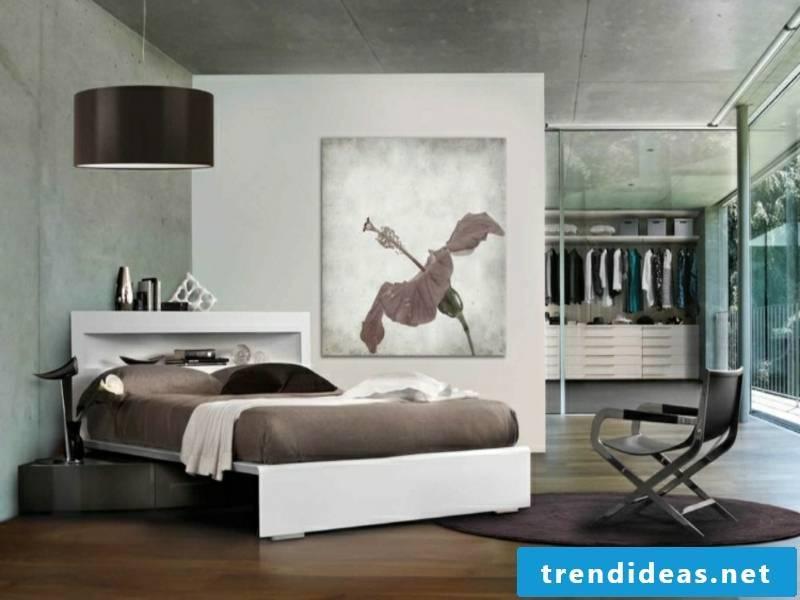 walk-in corner bed in the luxury bedroom