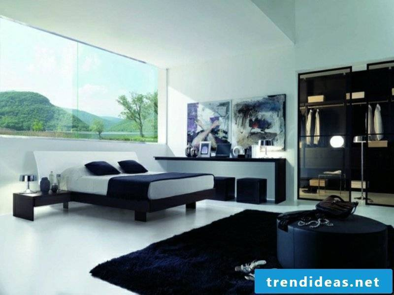 modern walk-in closet in the luxury bedroom