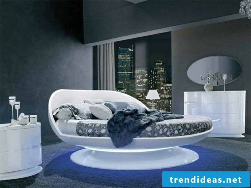 luxury bed in urban style