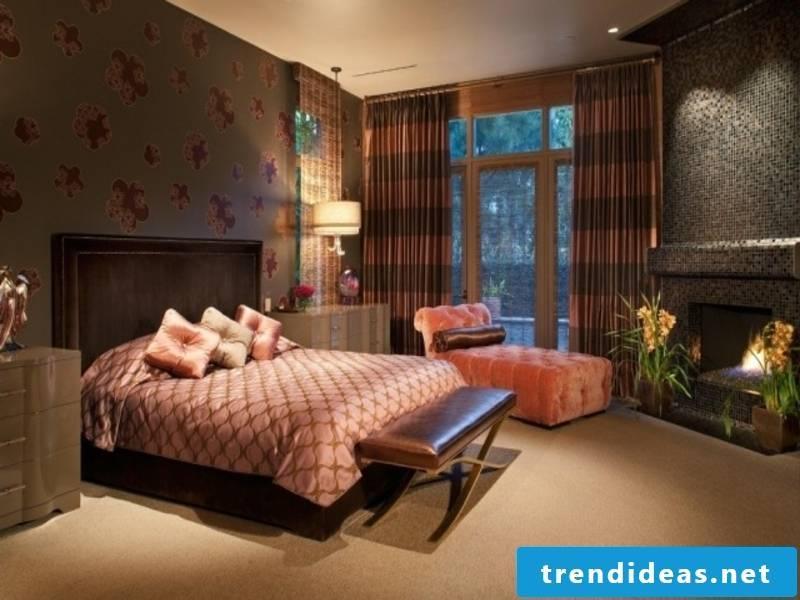 beautiful bed in the luxury bedroom
