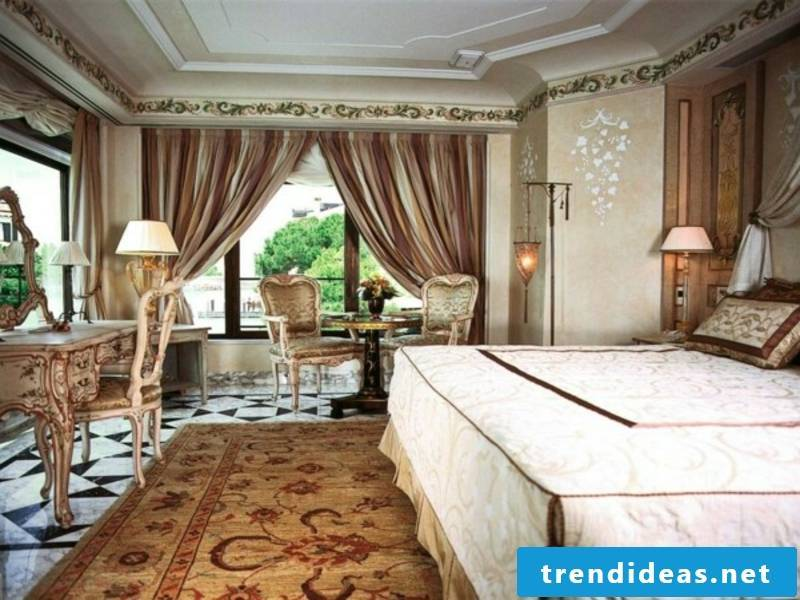 Luxury bedroom with modern Victorian furniture