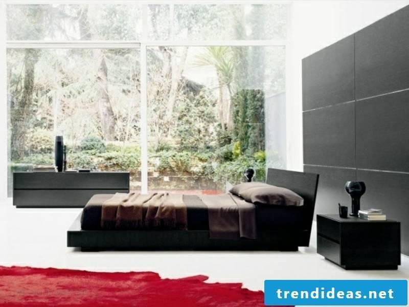 modern red carpet in the luxury bedroom
