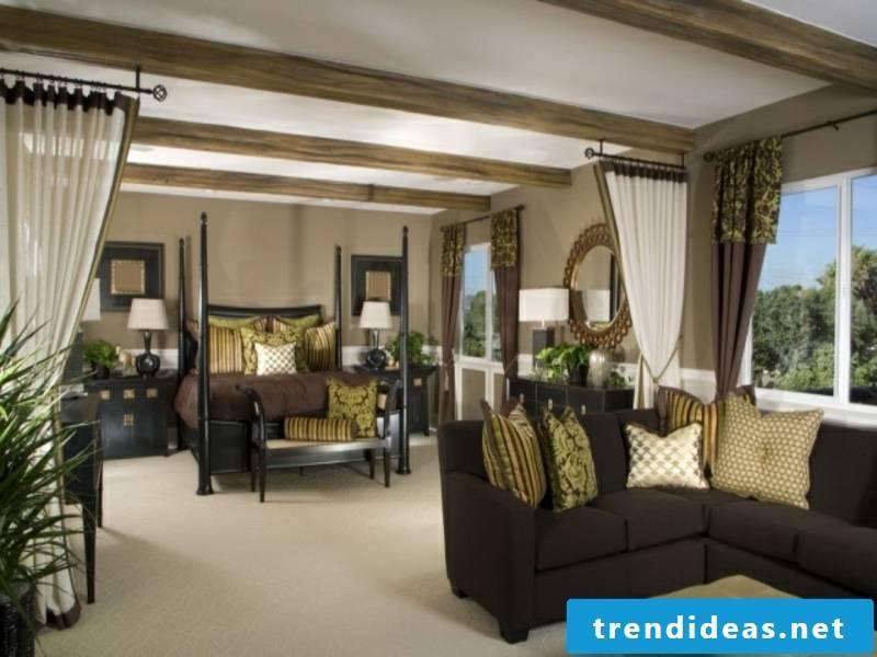 modern exotic sky bed in the luxury bedroom