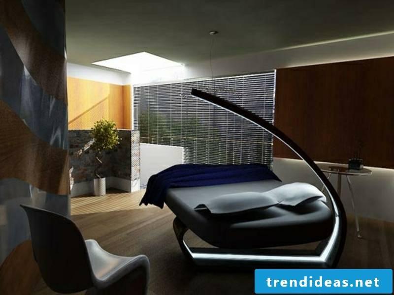 futuristic in the luxury bedroom