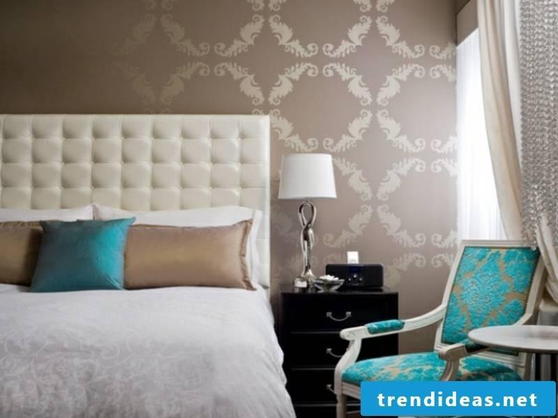 Tükisch blue accents in the luxury bedroom