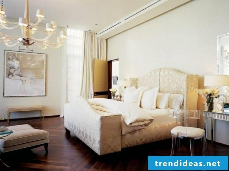 modern parquet floor in the luxury bedroom