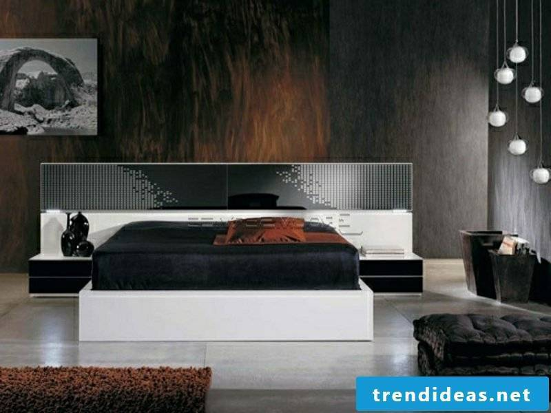 very luxurious sleeping room in white and black