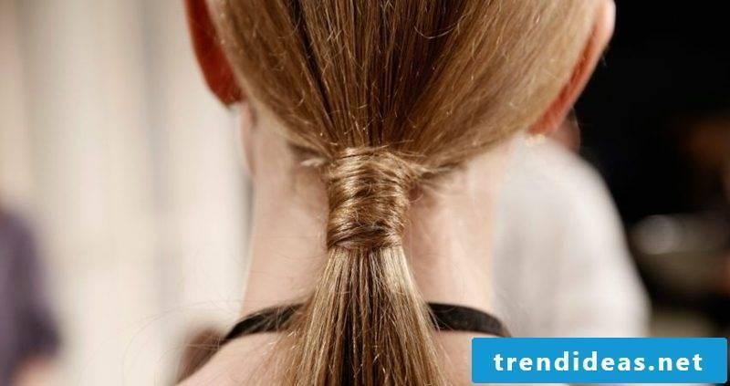 half length hairstyles Sleek braid