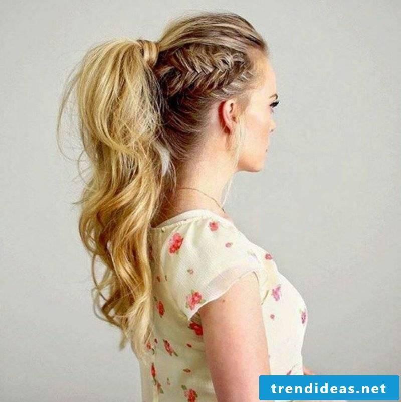 Braids simply hairstyles hair half-long
