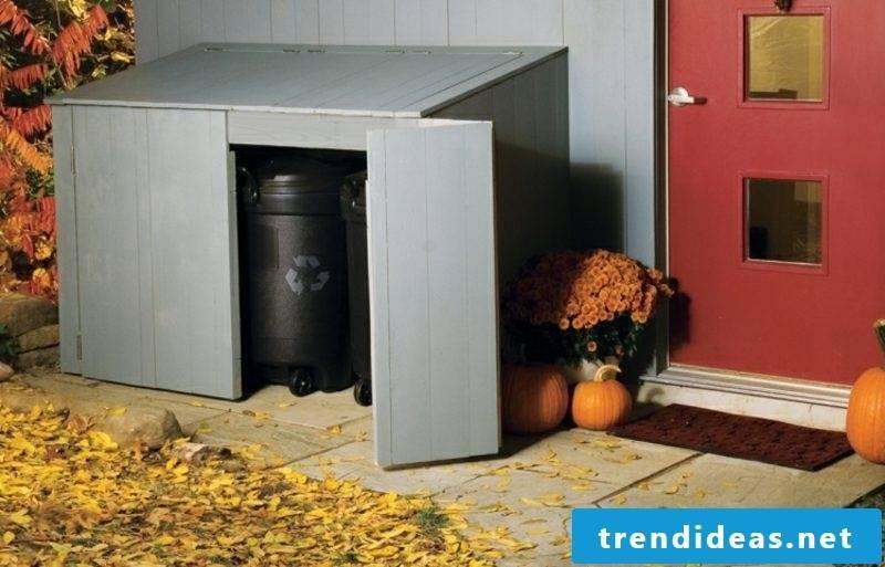 Dustbin box Plastic folding doors