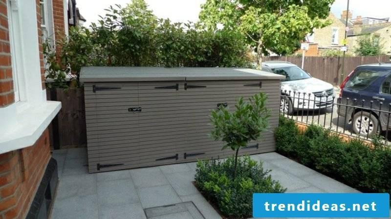 Dustbin box plastic front yard