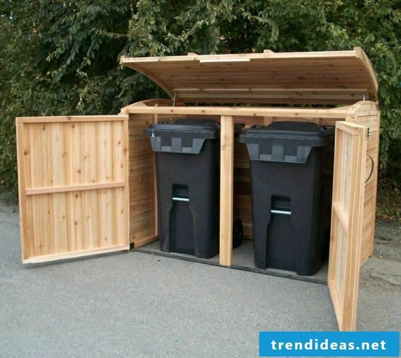 Door build garbage bin box