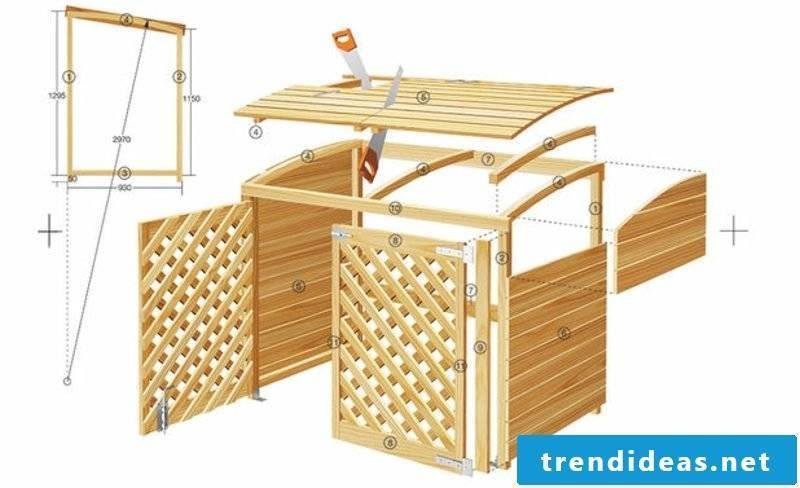 Trash box build scheme