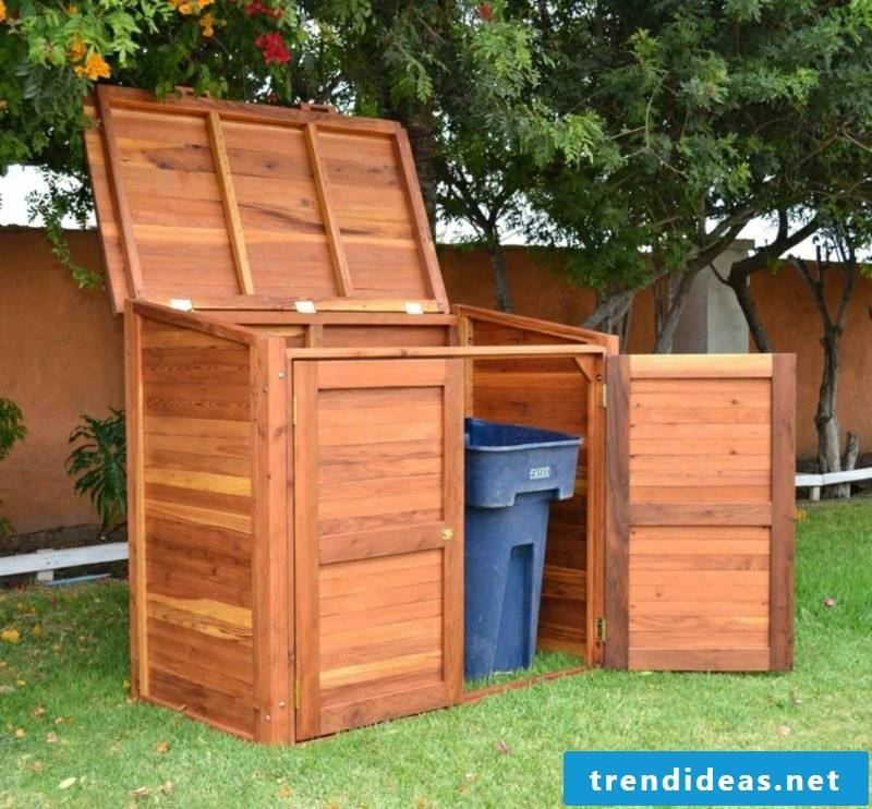 Garbage pits build wood