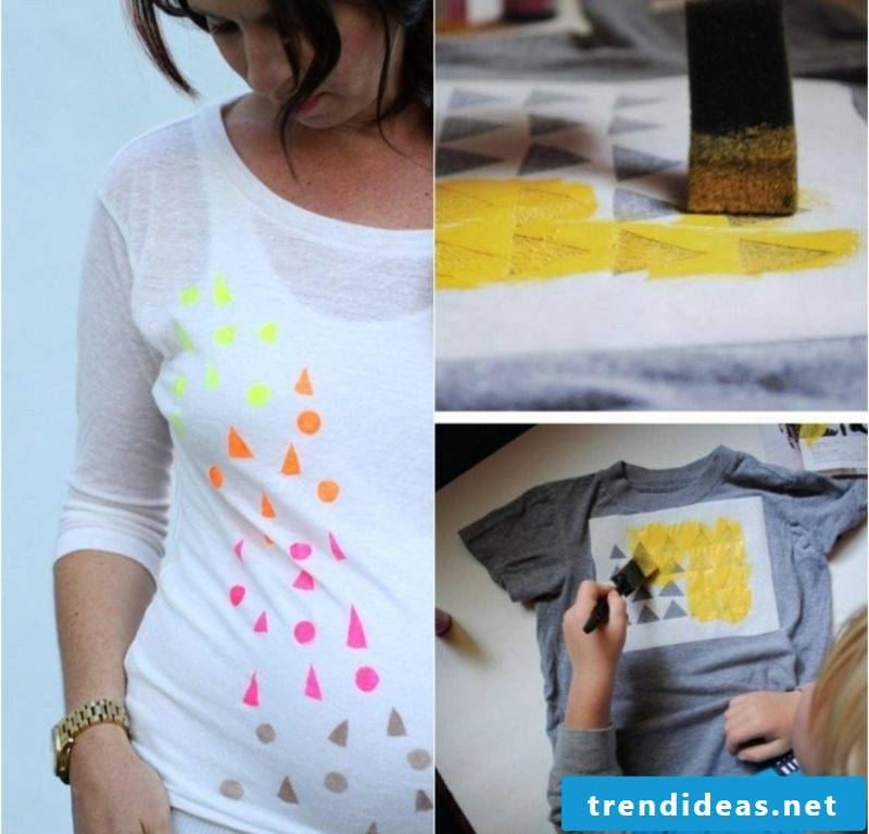 Print your own T-shirt with geometric motifs