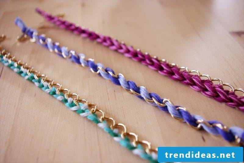 Bracelets are knotting imaginatively