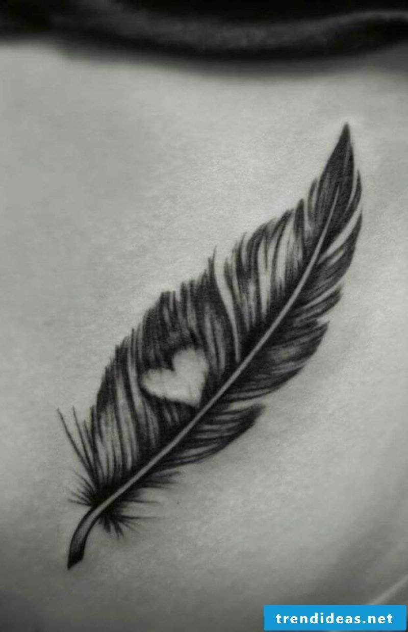 Feather and heart