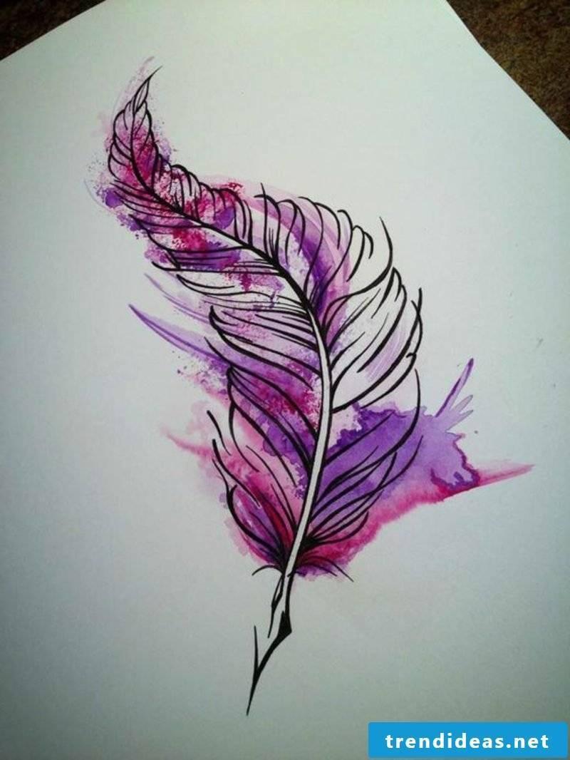 feather tattoos wasserfafbe