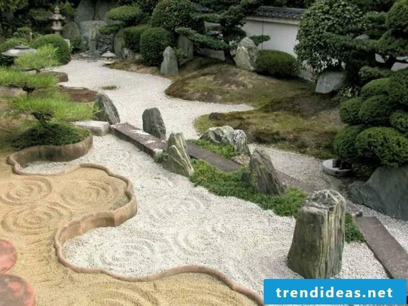 Garden paths design according to Feng Shui