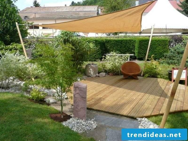 Feng Shui garden wooden deck