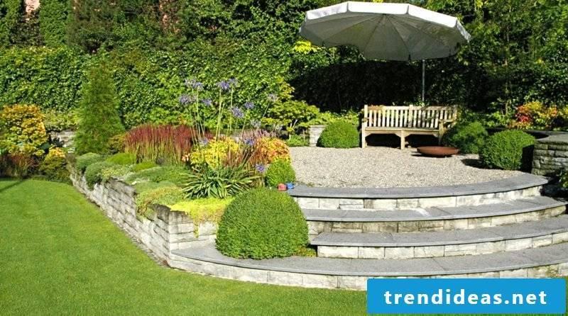 Apply Feng Shui in the garden area