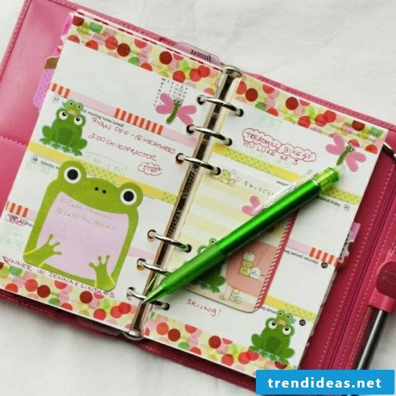 Filofaxing organizer colorful frog
