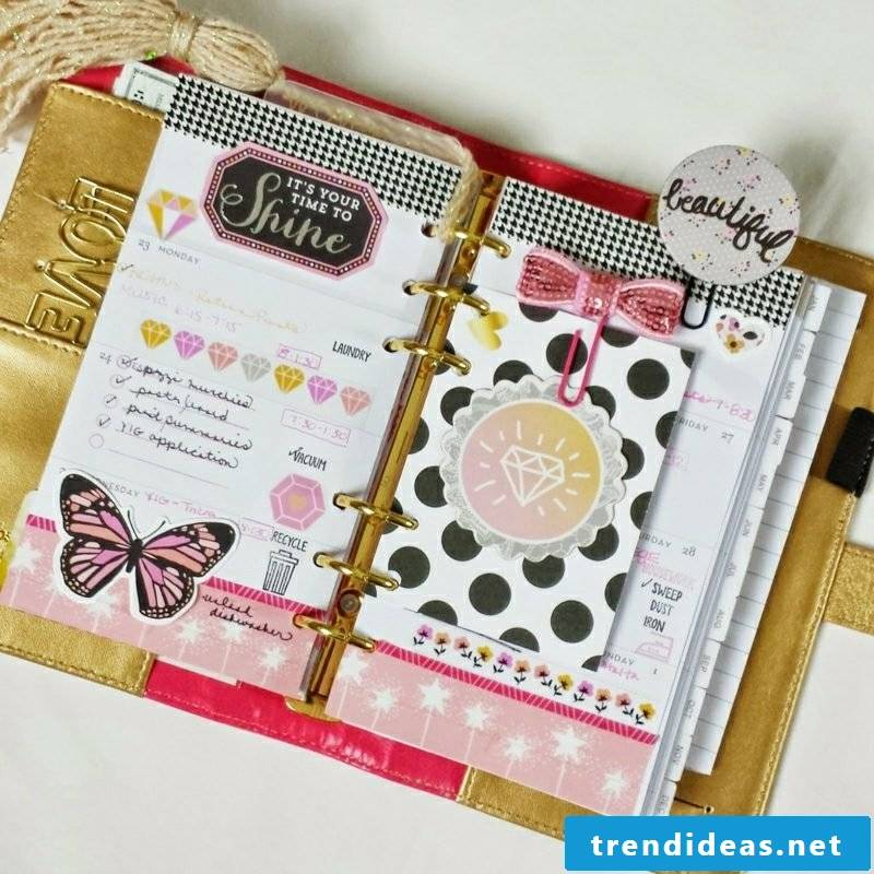 Filofaxing scheduler decorate dots pattern butterfly