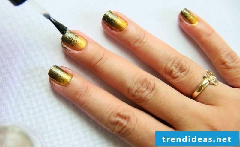 Fingernails Design Ombre DIY Ideas