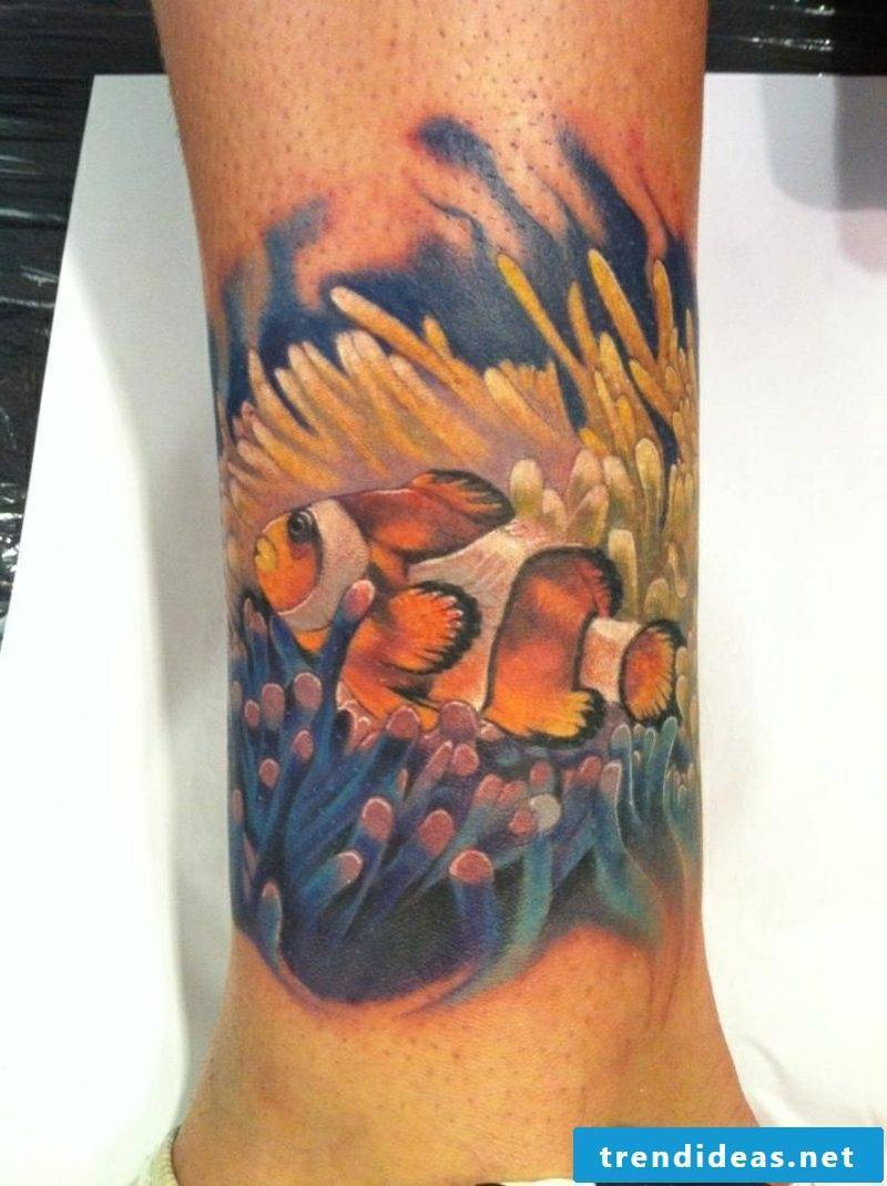 fish tattoo clown