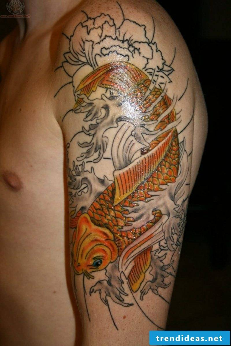 fish tattoo Koi